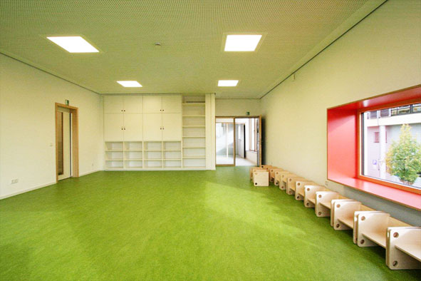 Neubau Evangelischer Kindergarten Friedberg Bay / Hicker Architekten 2014